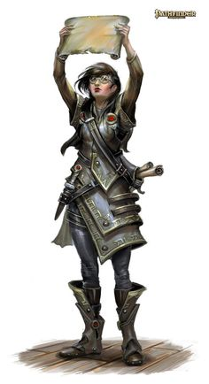 Pathfinder - Paizo Publishing by Miroslav Petrov, via Behance. Nerdy dungeon delver female scholar