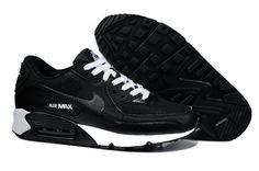 Mens Nike Air Max 90 Essential Black Grey White Trainers UK