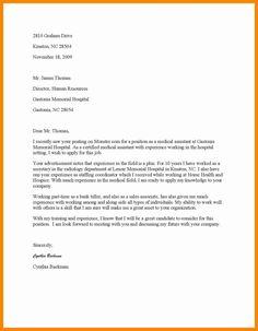 medical internship cover letters