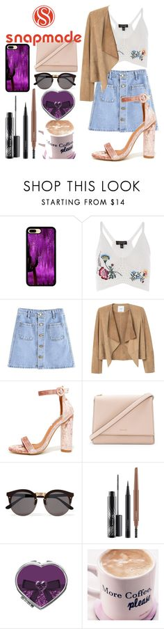 """""""Snapmade"""" by kylie-zibihdz-1 ❤ liked on Polyvore featuring Topshop, MANGO, Cape Robbin, Kate Spade, Illesteva and MAC Cosmetics"""