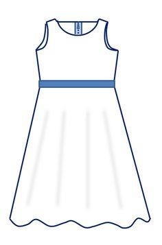Voici une version simple de la robe-qui-tourne sans manche, on peut la porter avec un t-shirt à manches courtes, à manches longues ou sans t-shirt suivant la température et le tissu choisi. J'ai réalisé une version plus élaborée, pour les fêtes (ou pour...