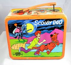 Vintage 1973 Scooby-Doo Lunch Box And Thermos Lunchbox Lunch Pail Metal Orange Retro Lunch Boxes, Lunch Box Thermos, Metal Lunch Box, Vintage Tins, Vintage Metal, Vintage Stuff, Vintage Photos, My Childhood Memories, Sweet Memories