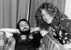 Robert Plant of Led Zeppelin laughing over a sleeping Led Zeppelin Tour Manager #RobertPlant #LedZeppelin #LedZep #Zep