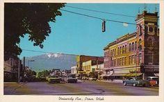 University Avenue Provo Utah - bidStart (item 53880625 in Postcards, United States, Utah, Provo)