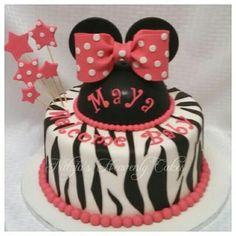 Zebra mini mouse cake