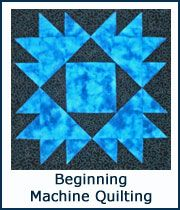 Beginning Machine Quilting - plenty of ideas and advice. Scroll down the page to find what you are looking for.