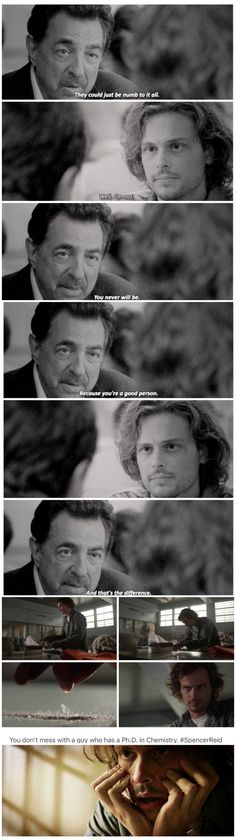 """""""It Cannot be seen, cannot be felt. Cannot be heard, cannot be smelt. It lies behind stars and under hills, and empty holes it fills. It comes first and follows after, ends life, kills laughter.""""  J.R.R. Tolkien. Said by Spencer Reid."""