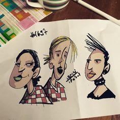 Sunday morning n1697 random faces sketch #Procreate #ipadproart  #art #draw #draws #cartoon #drawing #arts #sketchbook #conceptart #arts #doodle #illustration #sketch  #characterdesign