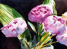 WoL: Peonies | Flock of Tea Cosy Watercolour Paintings, Watercolor, Flocking, Cosy, Peonies, Tea, Pen And Wash, Watercolor Paintings, Watercolor Painting