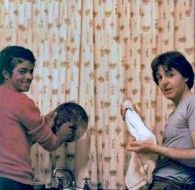 Michael Jackson and Paul McCartney doing the washing up