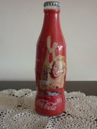 Bouteille Coca Cola En Verre Capsulée D´origine, édition 125 Ans, Sujet Femme - Mod 2