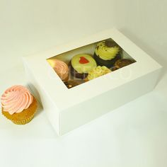 6 window Cupcake Boxes by Cheerico www.CupcakeBoxes.com.au