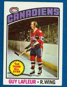 1976 Guy Lafleur Topps # 163 Montreal Canadiens