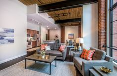 The thoughtful adaptive reuse and restoration of the historic building structure features 57 oversized, modern lofts market-rate units Rive Nord, La Rive, Adaptive Reuse, 3 Bedroom Apartment, Building Structure, Rental Apartments, Home Values, Restoration, Architecture