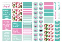 Cartoleria – the Dear You project - Free August Planner Stickers