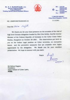 Letter From Additional Secretary Ministry Of Communications And