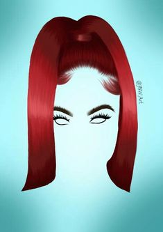 India Love Sleek Straight Red Ponytail Hair Style – Hairstyle of real girls Sexy Black Art, Black Girl Art, Art Girl, Cute Wallpapers, Wallpaper Backgrounds, Face Illustration, Illustrations, Black Art Painting, Black Girl Cartoon