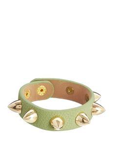 Nali Studded Faux Leather Bracelet