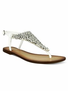 e5e5e25fce1d09 Diamonds and Pearls Flat Sandal Naughty Monkey  Pearl Sandals