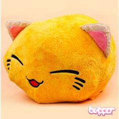 Nemuneko Plush - Big / Yellow - Plush Toys - Other Products | Blippo Kawaii Shop