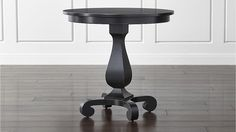 Esme Bruno Pedestal Table in Coffee Tables & Side Tables | Crate and Barrel