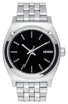 $100 Nixon 'The Small Time Teller' Bracelet Watch, 26mm