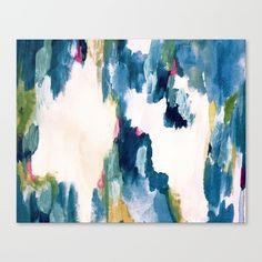 """Aguapé"" Abstract Artwork by Clara Art Studio."
