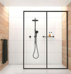 Phoenix Vivid, Vivid Slimline and Radii ONIX Matte Black - Shower head and sink tap for second bathroom Bad Inspiration, Bathroom Inspiration, Chic Bathrooms, Modern Bathroom, Bathroom Black, Laundry In Bathroom, Shower Bathroom, Bathroom Ideas, Walk In