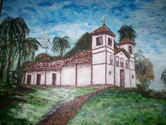 Pintando um modelo: Igreja de Santa Rita em Uberaba