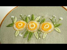Grand Sewing Embroidery Designs At Home Ideas. Beauteous Finished Sewing Embroidery Designs At Home Ideas. Basic Embroidery Stitches, Hand Embroidery Flowers, Hand Embroidery Tutorial, Flower Embroidery Designs, Learn Embroidery, Crewel Embroidery, Hand Embroidery Patterns, Embroidery Kits, Embroidery Techniques