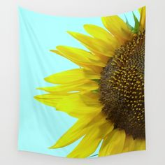 Sunflower Mint Wall Tapestry