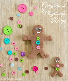 What child doesn't want to make their very own gingerbread men to play with? This gingerbread playdough recipe is the perfect winter sensory play activity.