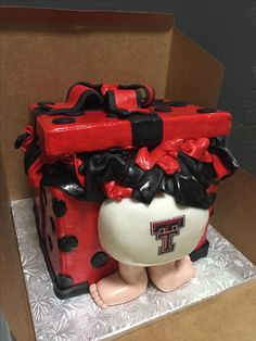 Texas Tech themed baby shower cake