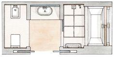 Примеры дизайна ванных комнат с душевой кабиной. Как правильно расставить сантехнику, выбрать отделку и декор. Идеи от 4 испанских дизайнеров.