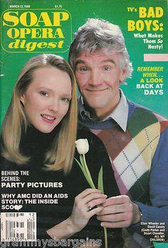 Soap Opera Digest March 2 1988 Ellen Wheeler David Canary Linda Gray Check it out #soaps #soapoperadigest on ebay www.grammysbargains.com