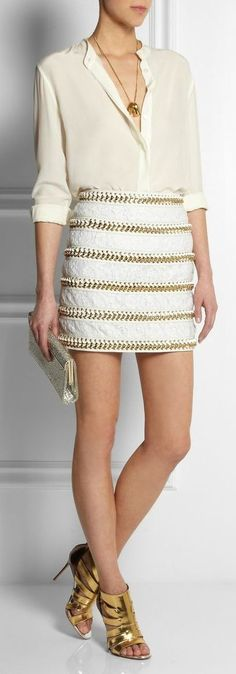 BALMAIN 2014  skirt needs to be longer in length for my taste