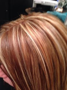 Red blonde and brown hair. Highlights blonde and brown highlights. Brown Hair With Highlights And Lowlights, Hair Highlights And Lowlights, Caramel Highlights, Golden Blonde Hair, Red To Blonde, Hair Color And Cut, Cool Hair Color, Hair Colors, Messy Bob Hairstyles