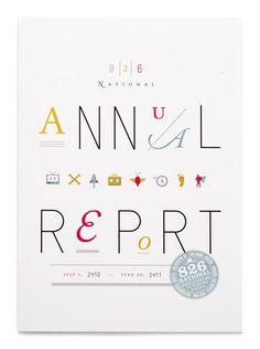 非営利団体 826 National のアニュアルレポートの表紙。デザインは、NYのデザイナー Oliver Munda ...