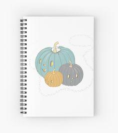 Three sparkly pumpkins with a cute little mouse Notebook Design, Pumpkins, Notebooks, Spiral, Finding Yourself, Artists, Unique, Notebook, Pumpkin