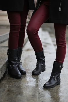 Oxblood and Boots.
