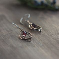 #earrings #copper #jewelry #silver #spring #crocus #lilac #wirewrapped