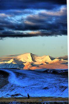 Early morning in Tibet