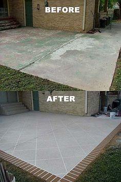 Decorative Concrete Inc.   Paint The Driveway  Or Basement