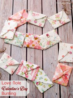 Love Notes for Valentine's Day Bunting -
