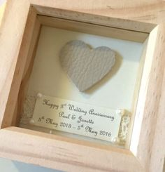 handmade 3rd leather wedding anniversary gift present keepsake