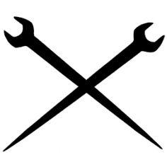 Ironworker Crossed Tools Decal