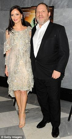 Happy parents: Ms Chapman is married to Miramax co-founder Harvey Weistein, 60. The baby will be Georgina's second and his fifth