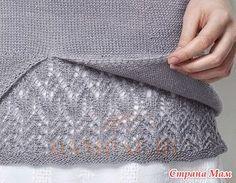 """Благодаря сложному оформлению нижней части вязаный джемпер выглядит оригинально и лаконично. Описание джемпера от дизайнера Anniken Allis переведено из журнала """"The Knitter"""". Размеры:"""