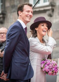 Prince Joachim and wife Princess Marie attending the opening of the Danish parliament at Christiansborg Castle, October 6, 2015.