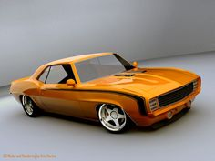 69 Gorgeous Camaro by Chip Foose This is in a three way tie for My Most Desired Car I Would Love To Own.!!!